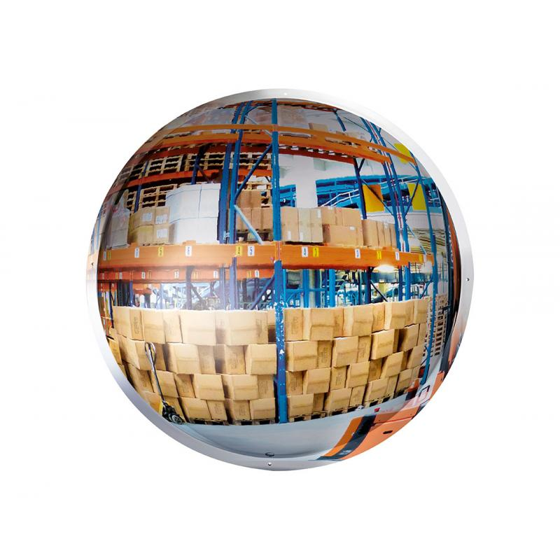 Vertically mounted 1/2 sphere mirror in POLYMIR®