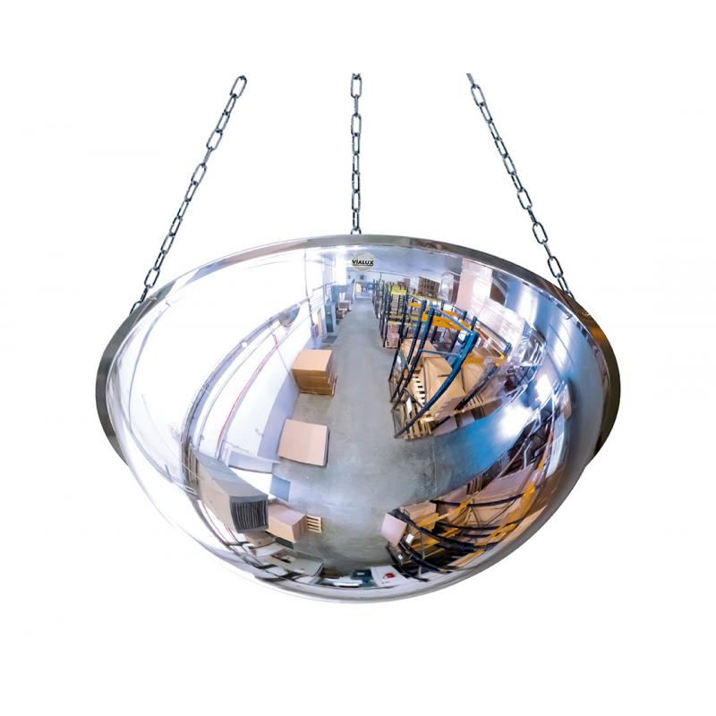 Ceiling mounted 1/2 sphere mirror in PMMA & polycarbonate