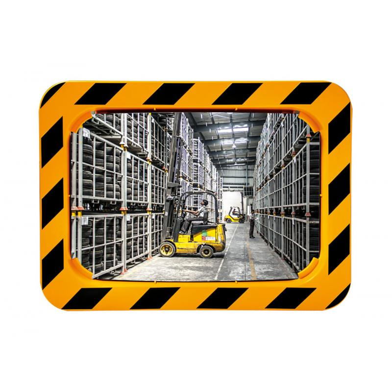 Industrial safety mirrors  (yellow & black frame) in Polymir & P.A.S
