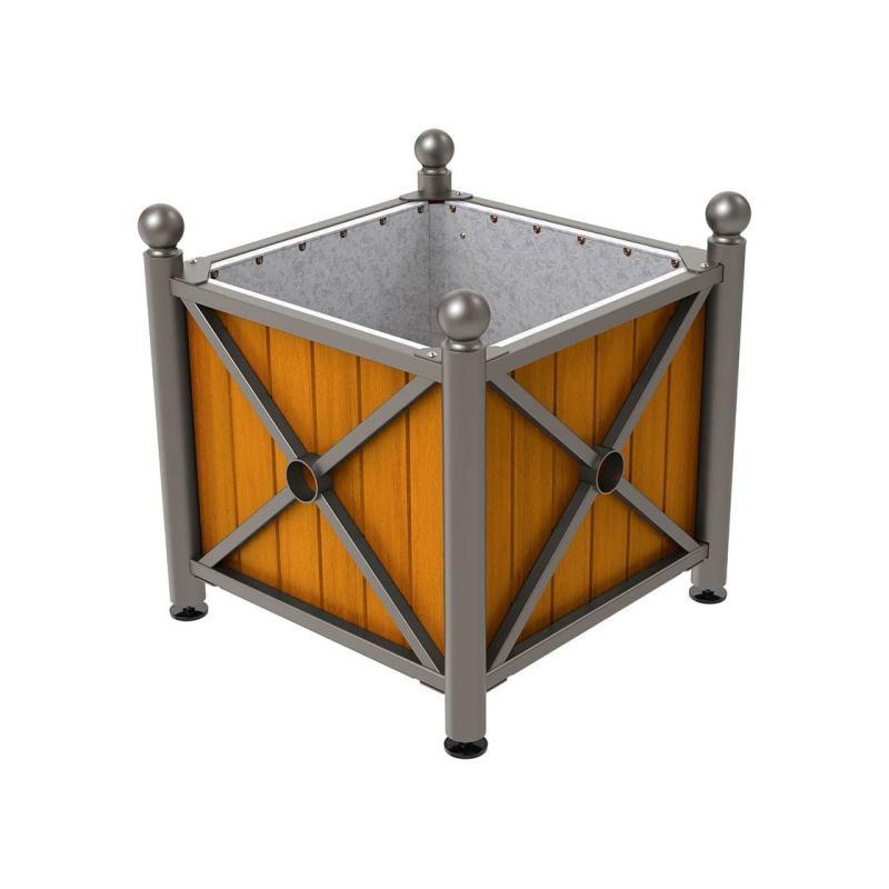Province wood & steel planters – Sphere
