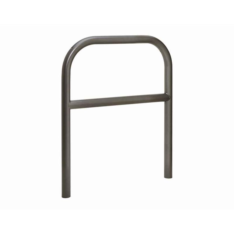 Painted steel hoop barrier with cross bar - Ø 60 mm