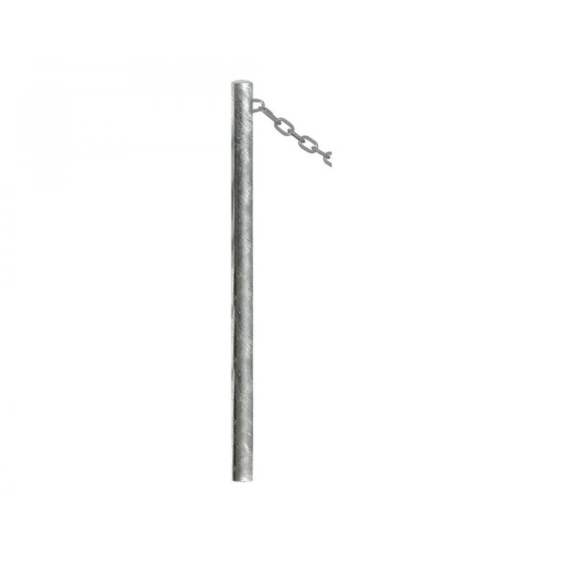 Galvanised dome top chain posts