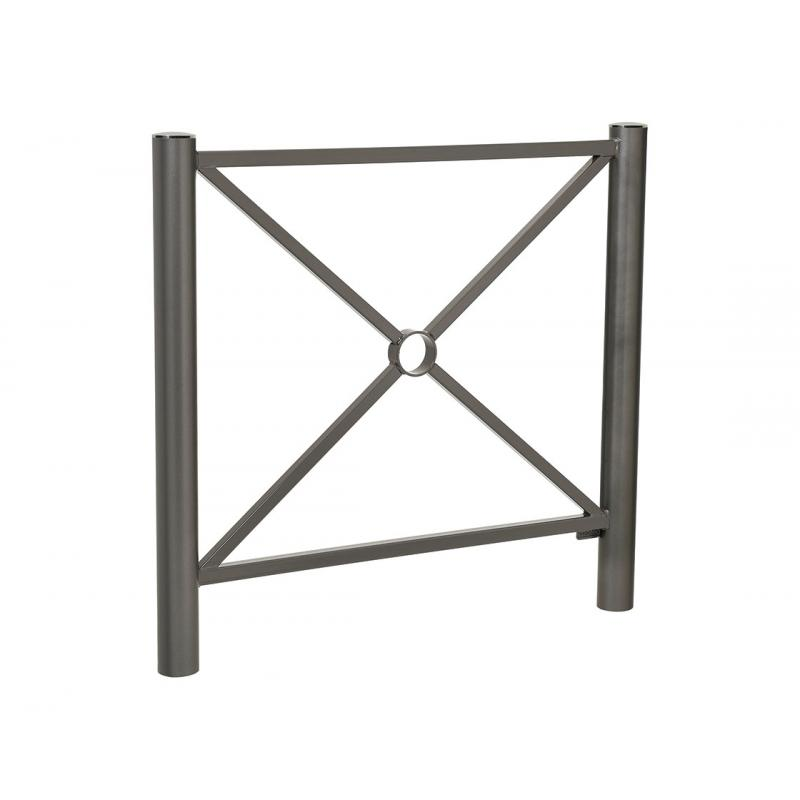 Province railing with stainless steel top cap