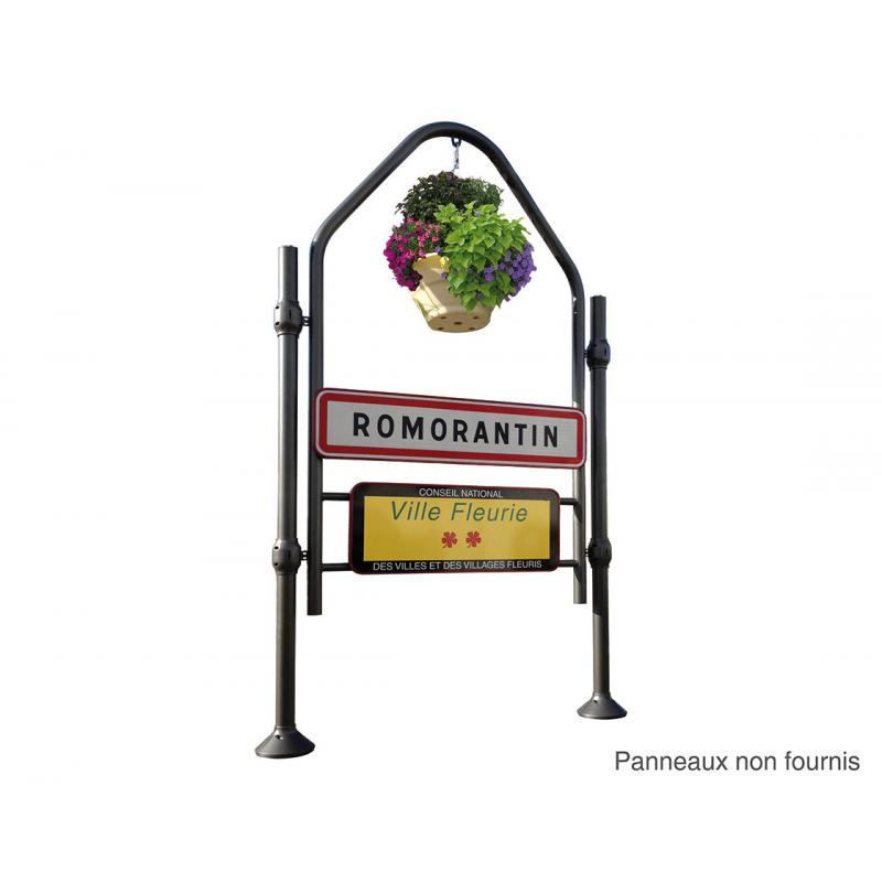 Province town entrance signage support – Stainless steel top