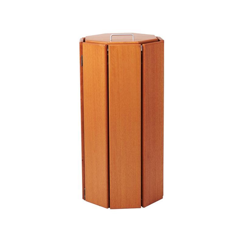 Seville wooden litter bins - octagonal - 100 litres