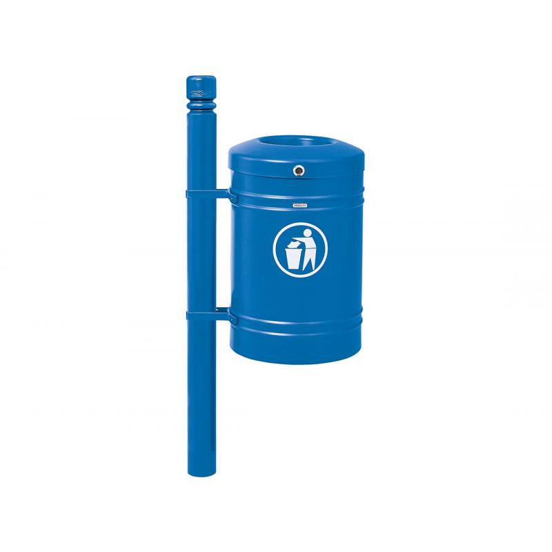 Standard steel litter bin – City - 40 litres