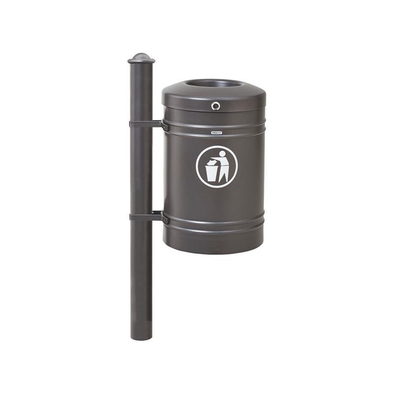 Standard steel litter bin – Agora - 40 litres