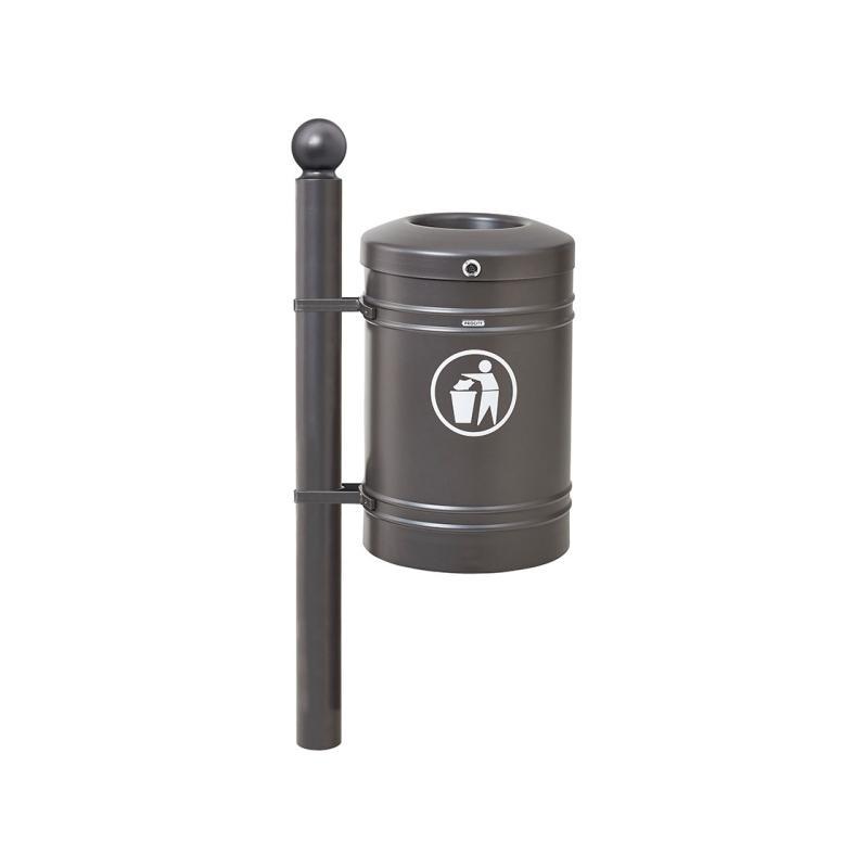 Standard steel litter bin – Sphere - 40 litres