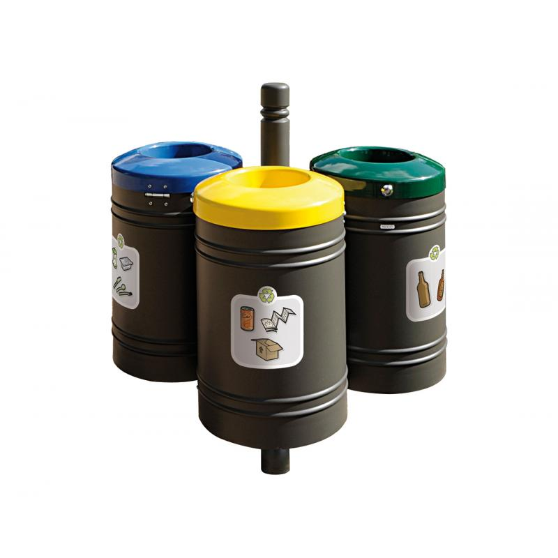 PROCITY® recycling point 40 liters x 3 - City