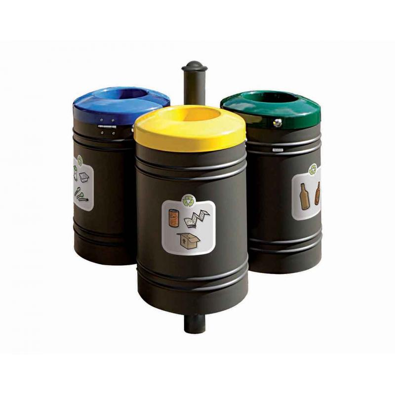 PROCITY® recycling point 40 liters x 3 - Agora