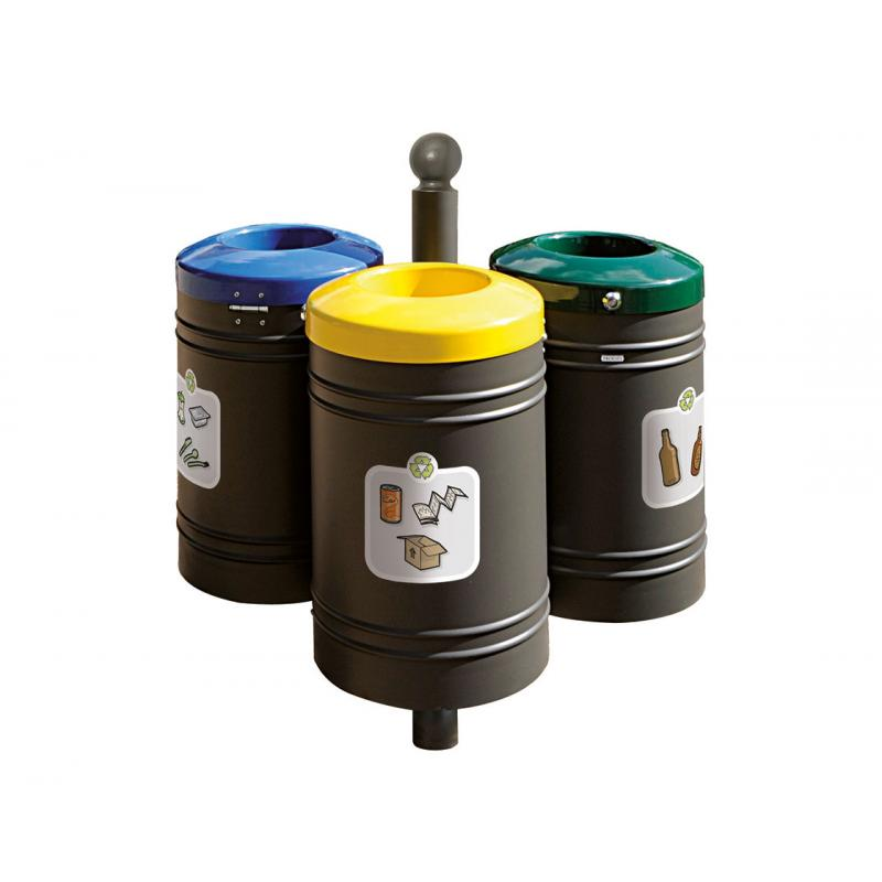 PROCITY® recycling point 40 liters x 3 - Sphere