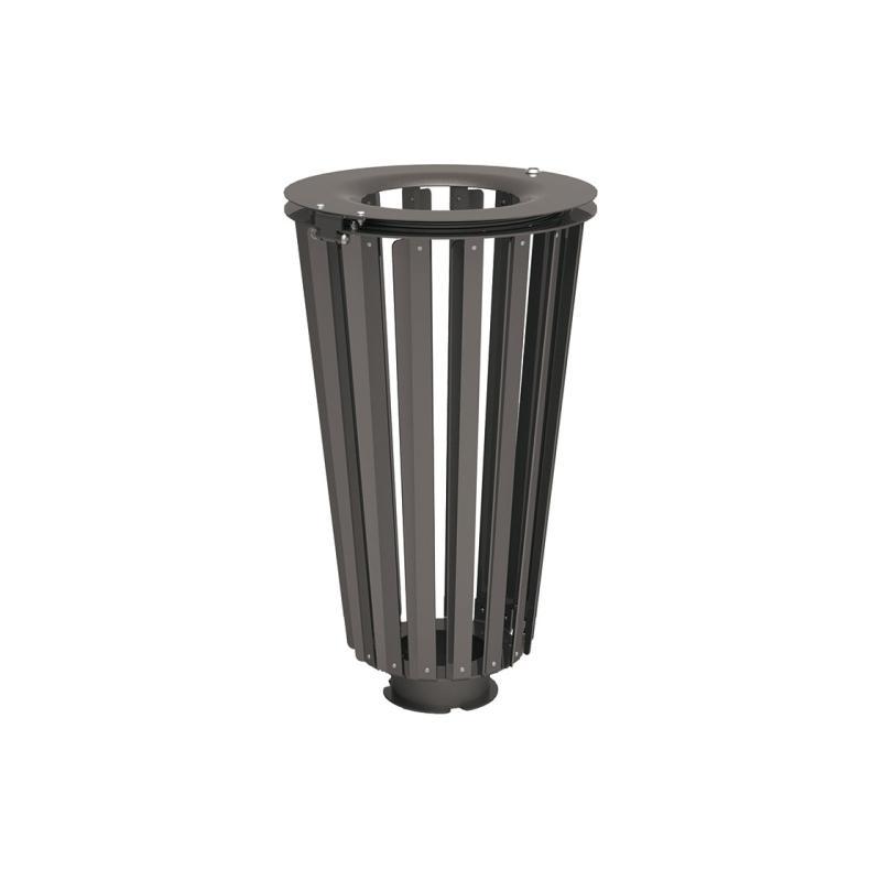 Lofoten steel litter bins  - 80 litres