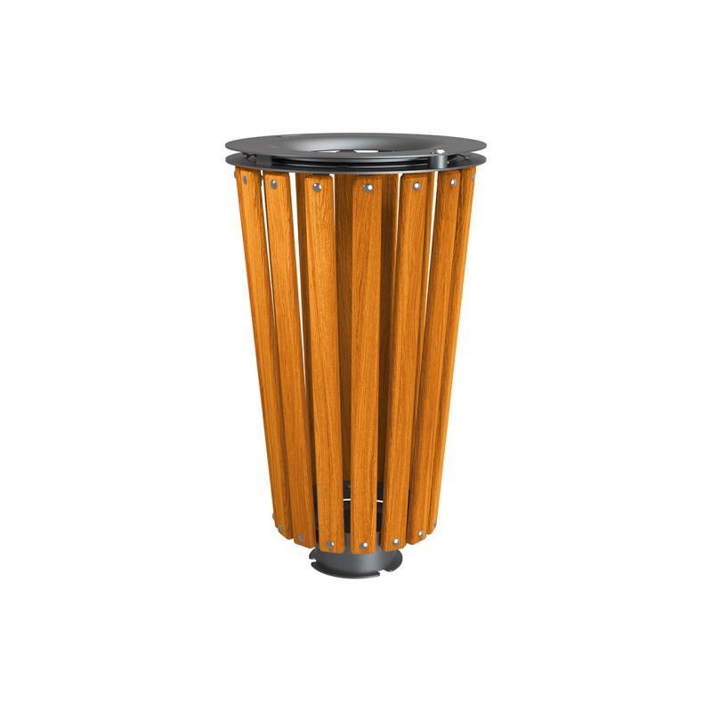 Lofoten wood & steel litter bins - 80 litres