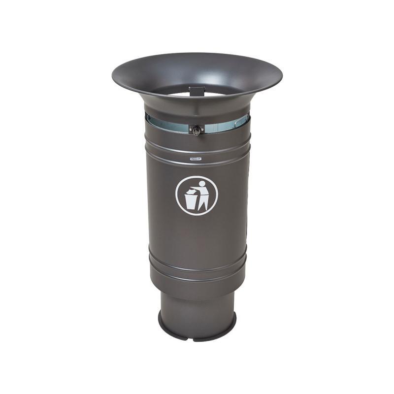 Cergy steel litter bin  - 60 litres