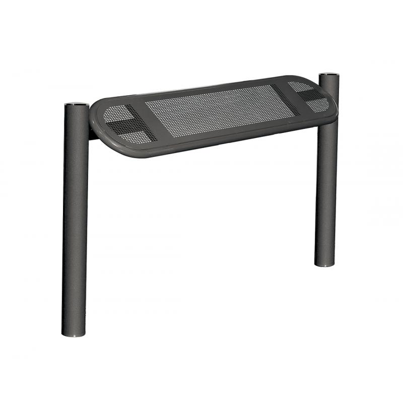 Estoril steel perch seat – stainless steel top
