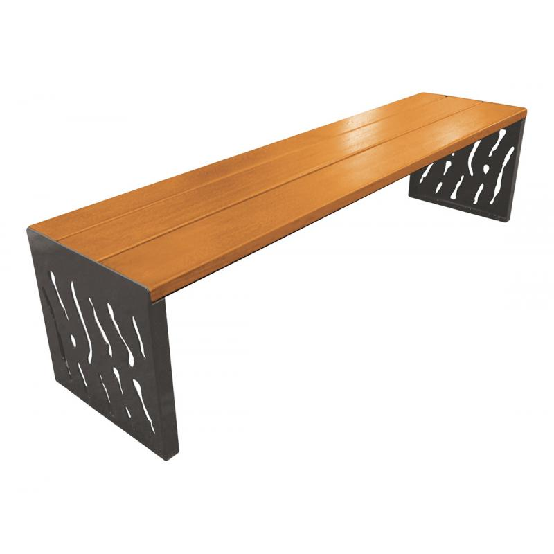 Venice wood & steel bench