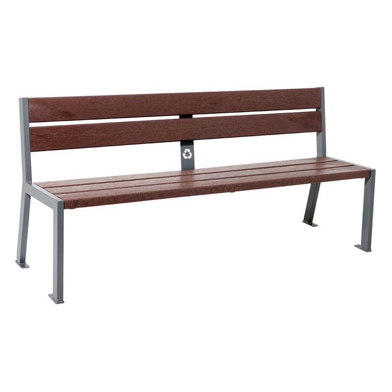 Silaos® recycled plastic bench 5 slats