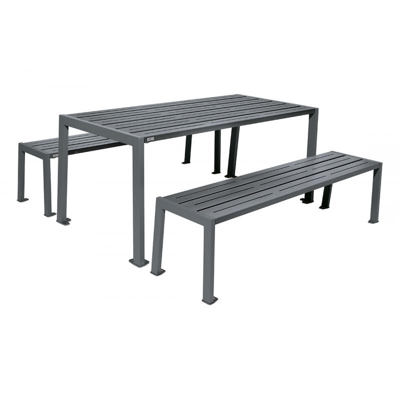Silaos® steel picnic table