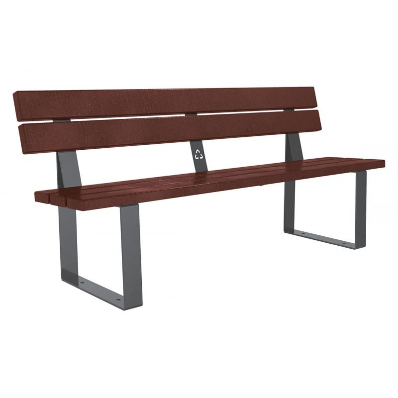 Riga recycled plastic bench