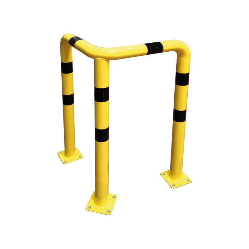 High impact corner safety barrier