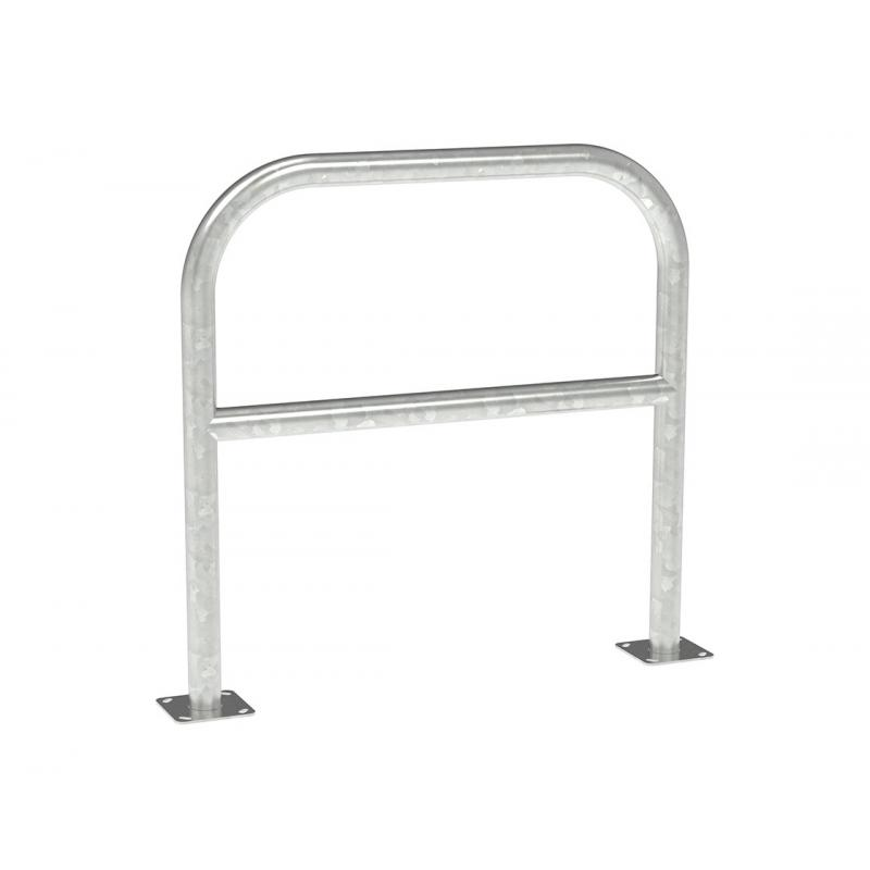 Ø 60 mm warehouse protection barrier with crossbar