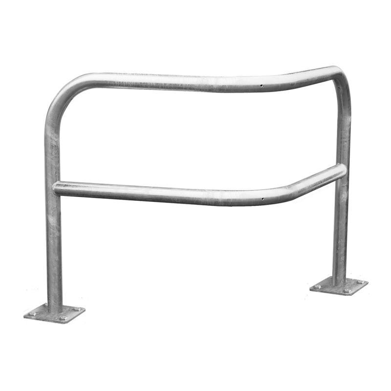 Angled corner safety barrier galva– 1000 mm