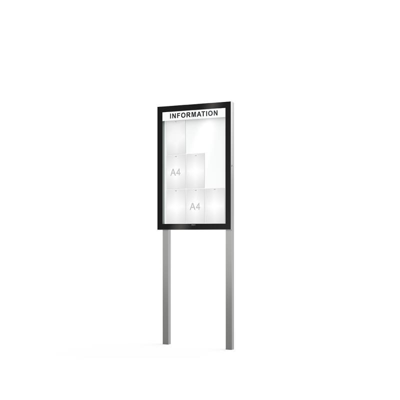 Edge poster case depth 54 mm on posts