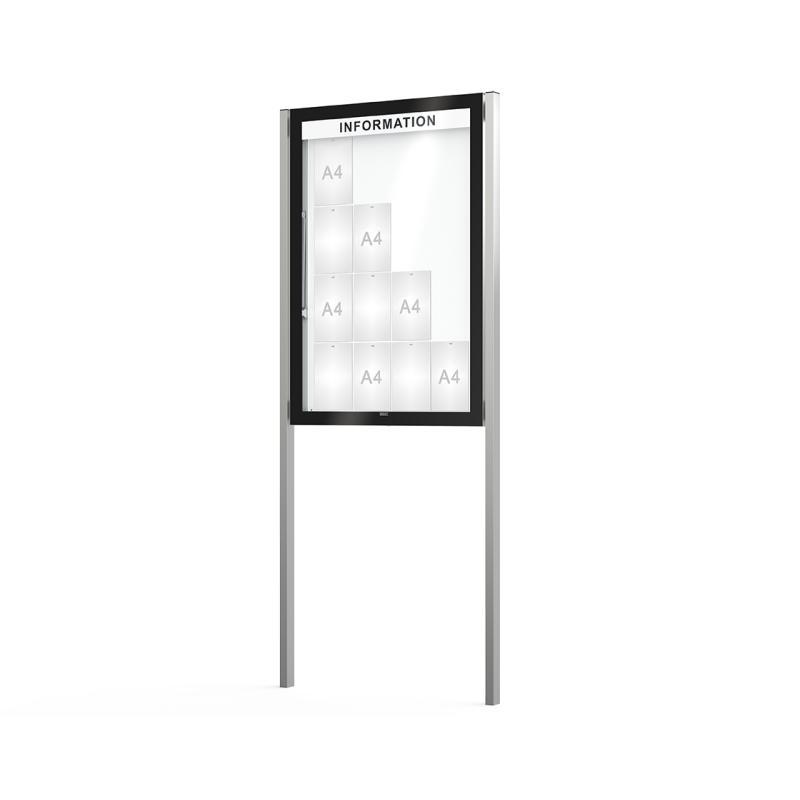 Edge poster case depth 80 mm on posts