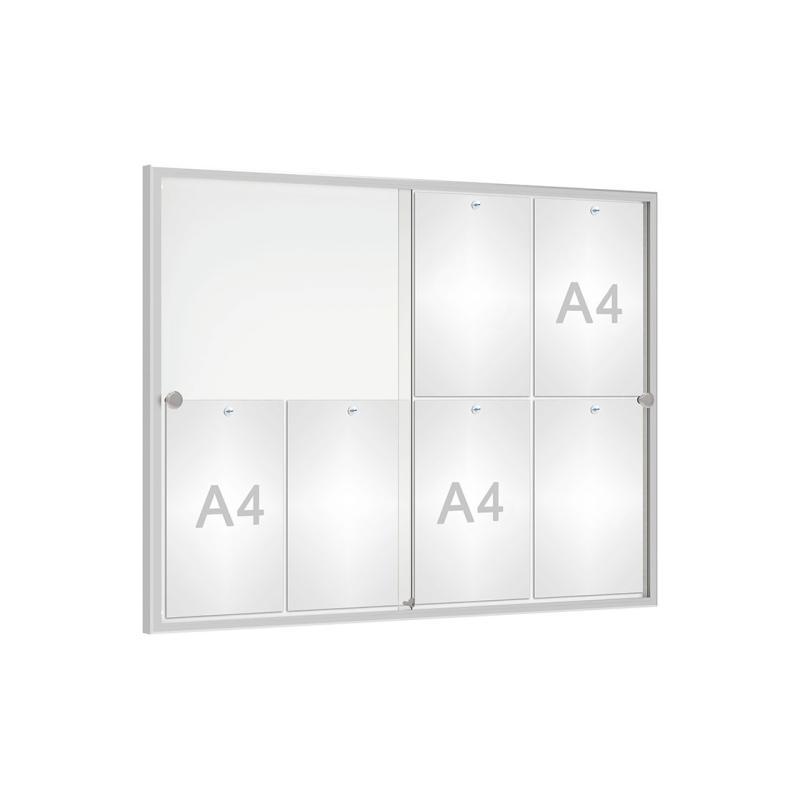 """""""Allure"""" indoor sliding door notice board"""