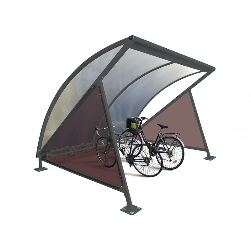 Moonshape bicycle shelter