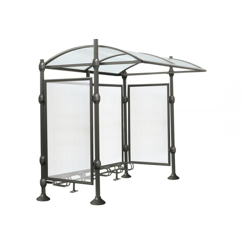 Province bicycle shelter – stainless steel